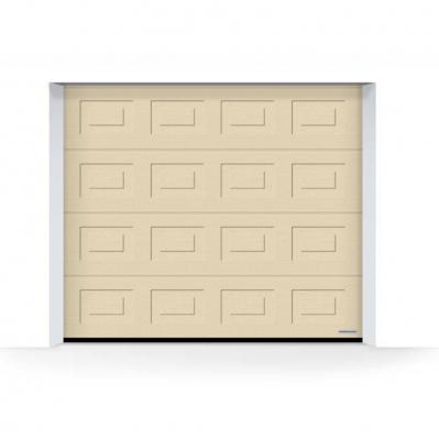 porte de garage 40 mm moteur liftronic 700 ferrure z 2000 mm l 2 375 x h 2 m woodgrain cassettes ivoire