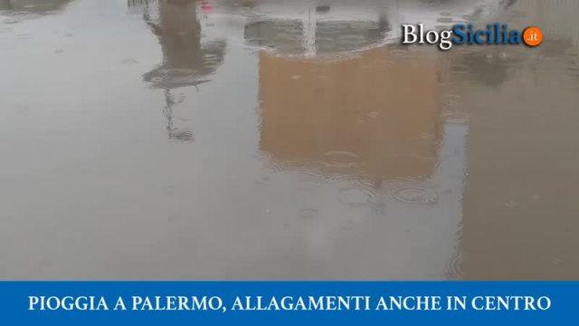 Pioggia a Palermo, allagamenti anche in centro