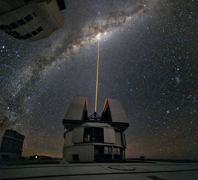 Very Large Telescope (VLT) discover, A Cosmic 'Spider's Web' has a Supermassive Black Hole