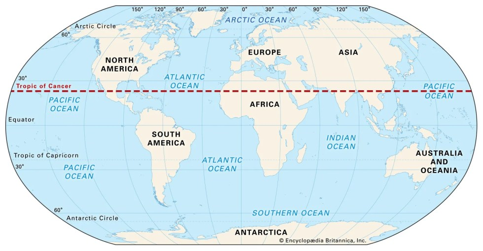 Tropic of Cancer | Definition & Facts | Britannica