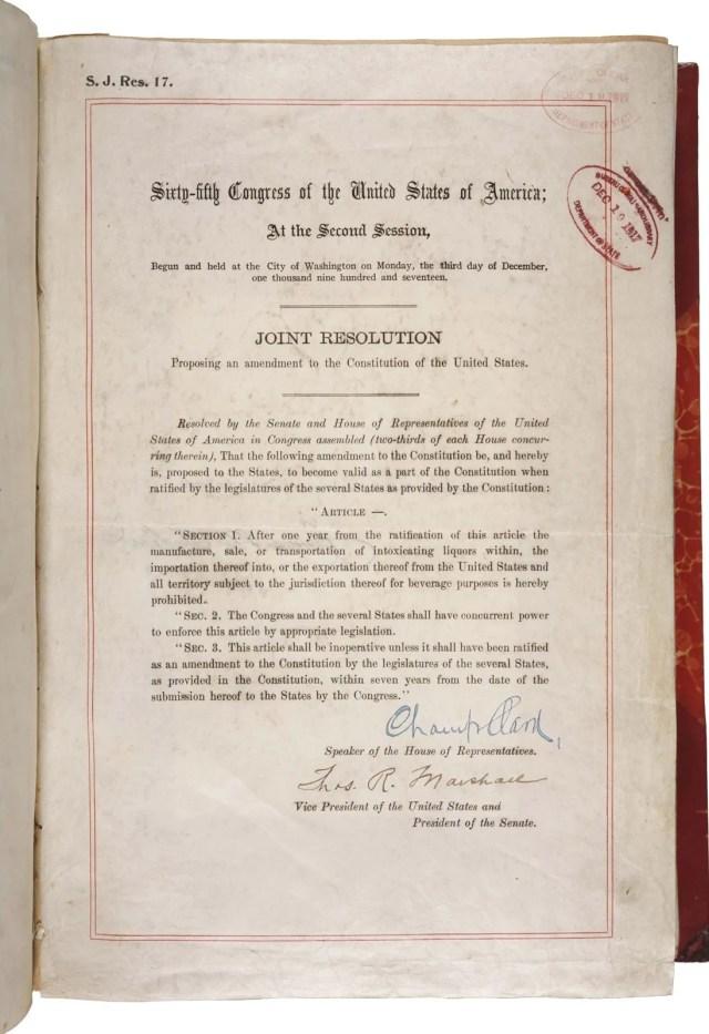 Eighteenth Amendment  Definition, Summary, & Facts  Britannica