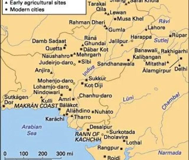 Principal Sites Of The Indus Civilization