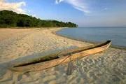 Dugout canoe on the shore of Lake Tanganyika, Tanzania