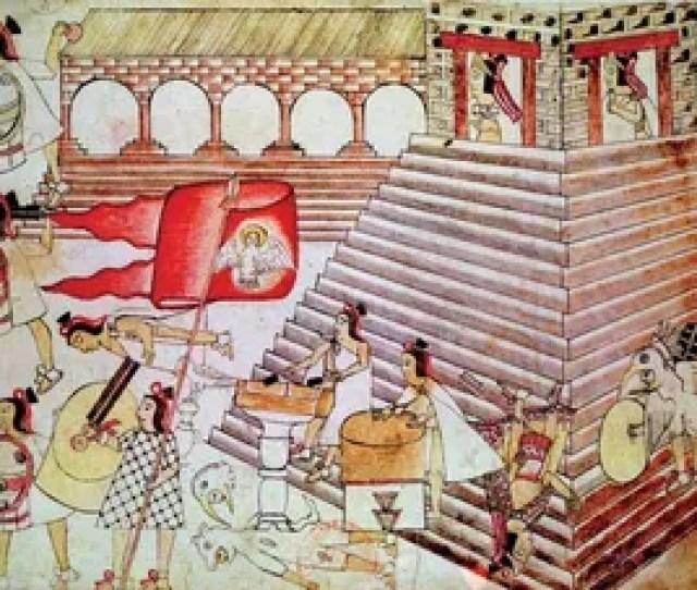 Aztec Warriors Defending The Temple Of Tenochtitlan