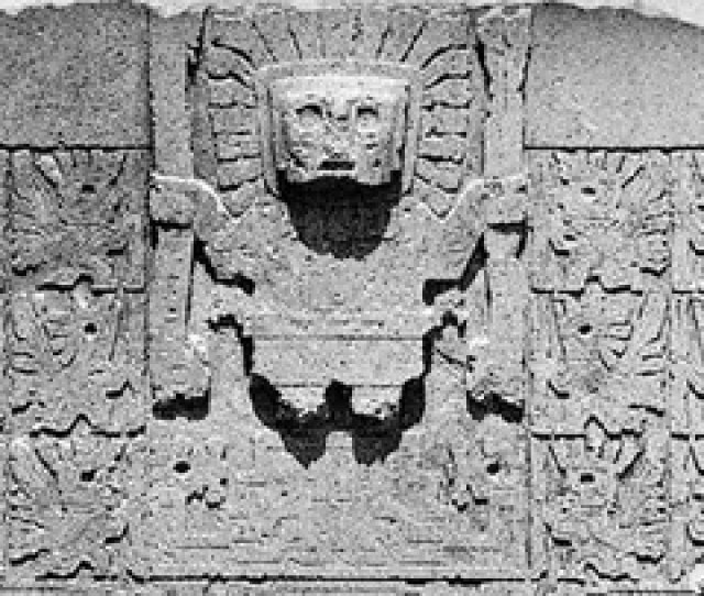 Doorway God And Accompanying Angels On The Gateway Of The Sun At Tiwanaku
