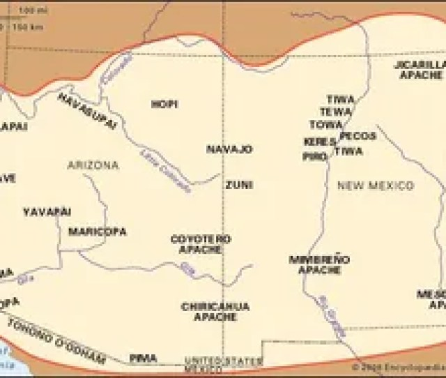 Distribution Of Southwest Indians And Their Reservations And Lands