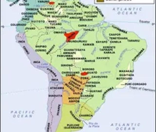 Distribution Of Aboriginal South American And Circum Caribbean Cultural Groups