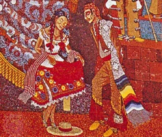 Detail From Popular History Of Mexico Mosaic By Diego Rivera  On The