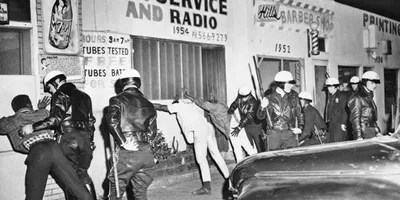 police in Watts, 1966