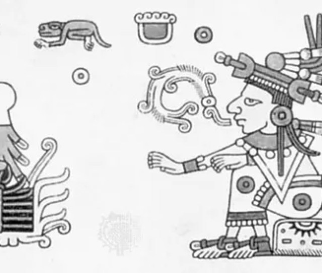 Xochiquetzal Illustration From The Codex Fejervary Mayer
