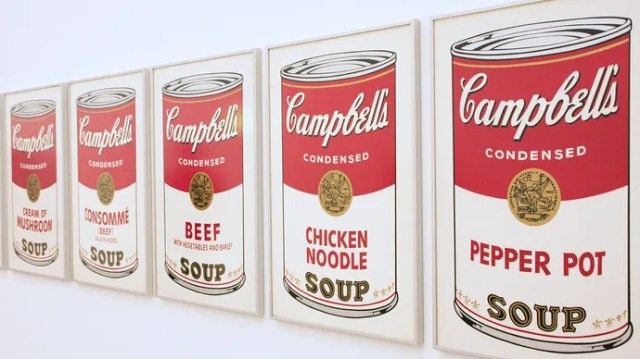 Andy Warhol: i dipinti di Campbell's Soup Cans