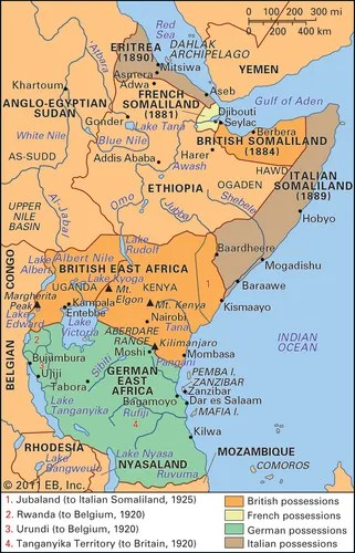 eastern Africa: imperial partitions, late 19th and early 20th centuries