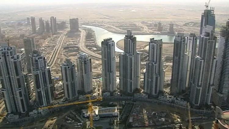 Dubai: building boom, united arab emirates