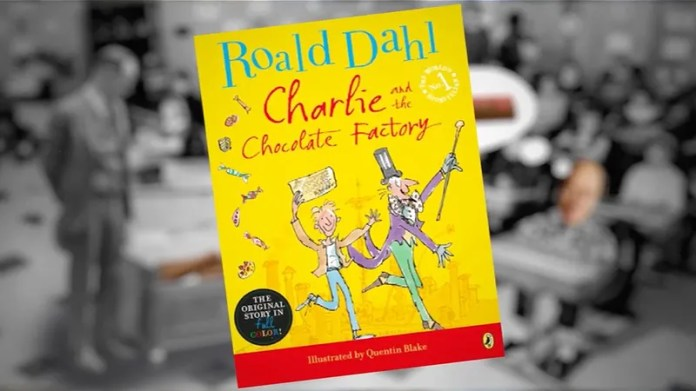 Image result for person reading charlie and the chocolate factory book pic