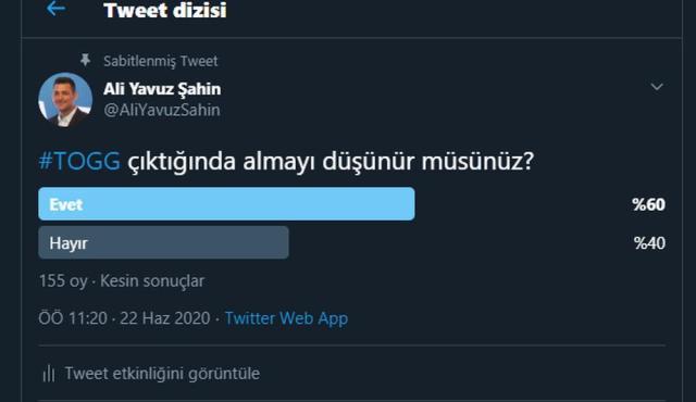 TOGG twitter anket