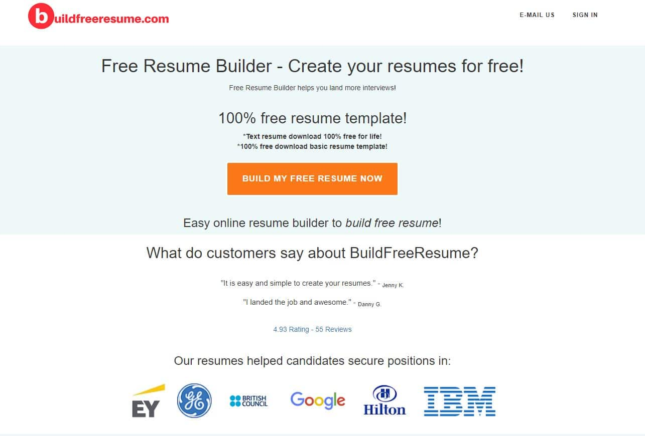 2020 Best Free Resume Builder Download Resume Build A