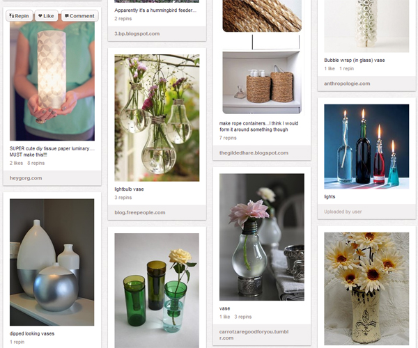 7 Publicity Ideas for Your Arts and Crafts Business image vases on pinterest1