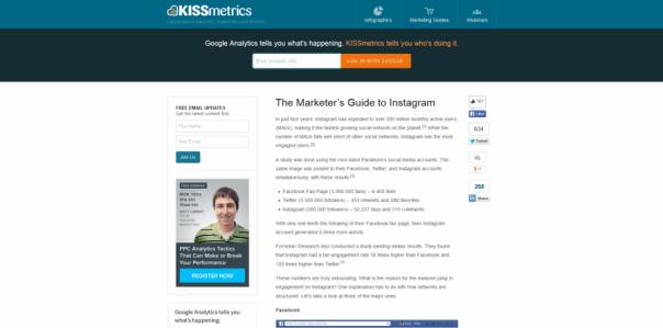 Kissmetrics IG marketing