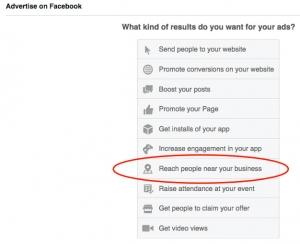 setting up a facebook local awareness ad