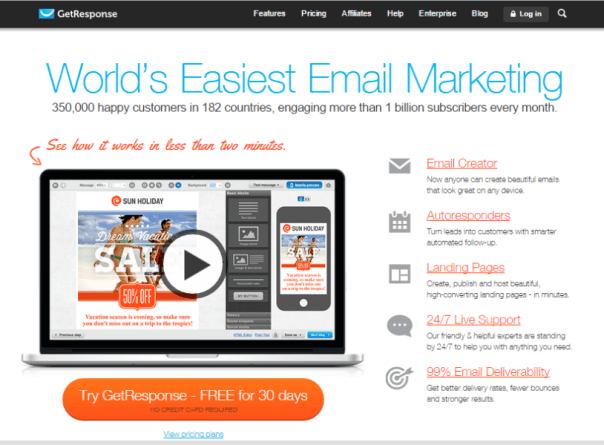 email marketing software - GetResponse