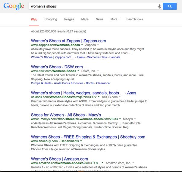google broad match search
