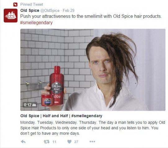 Old Spice Smellegendary Brand Hashtag