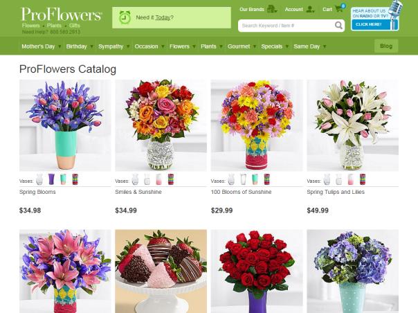 ProFlowers catalog