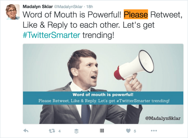 Use calls to action to help increase Twitter reach