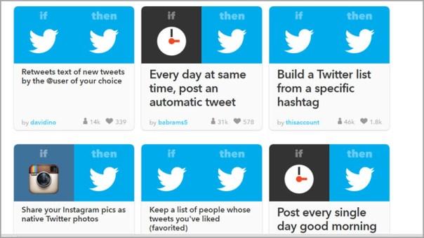 IFTT-Twitter-Recipes