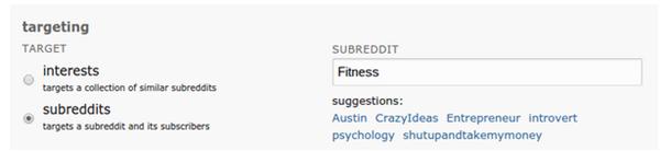 Reddit CPM Targeting