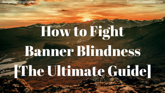 'How to Fight Banner Blindness [The Ultimate Guide]' 56%25 of all digital ads are never seen by a human, and standard banner ads are only clicked on by 1.2 people out of every 1000. To make matters worse, only 1-2%25 of people who click on that banner actually end up making a purchase. That makes you want to know how you can create an effective banner. This blog answers that question by creating an ultimate list of tips, after explaining what banner blindness is. Read the blog at http://bit.ly/FightBannerBlindness