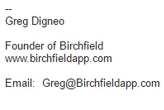 basic email signature
