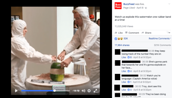uzzFeed on Facebook - Out of the box live streaming example
