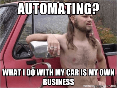 Automating? What I Do with My Car is My Own Business
