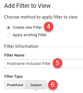 analytics custom filter