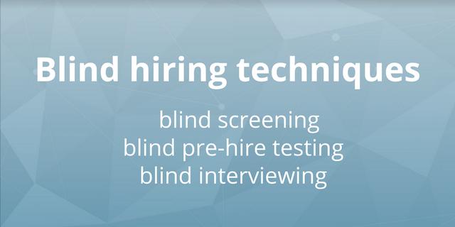 blind hiring techniques