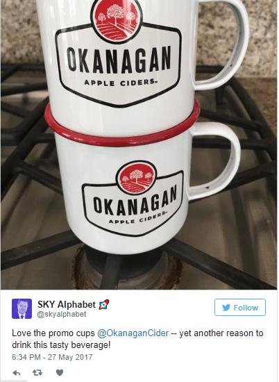 Tweet about Okanagan Cider