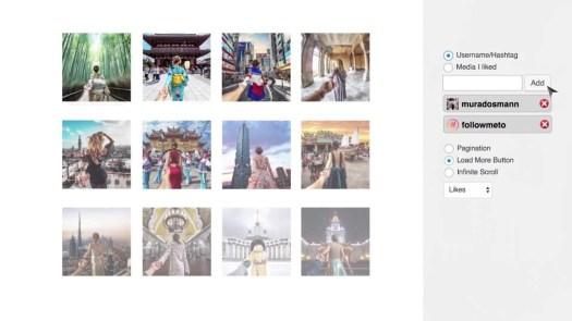 instagram feed website plugin