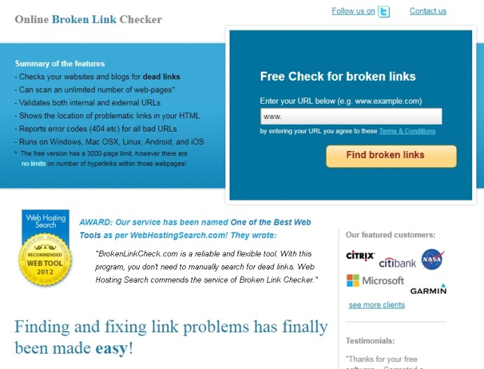Online Linked Checker is the best alternative to WordPress plugins