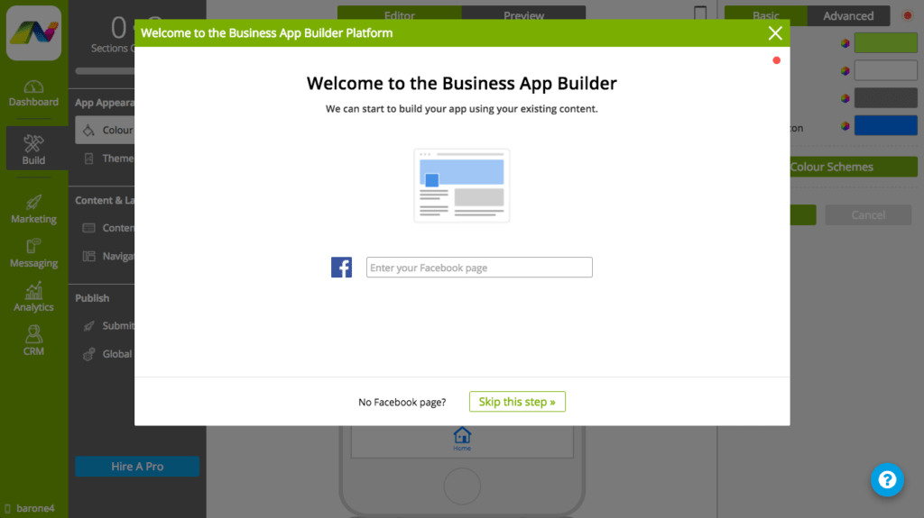 PWA builder screenshot