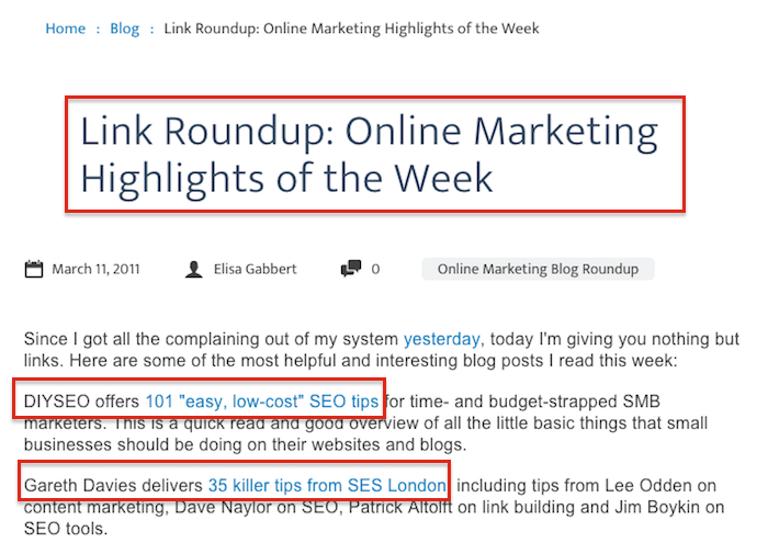 Link Roundup Example