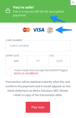 security message in checkout