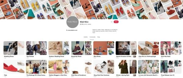 Exemple de compte Pinterest Kub Nic Ecommerce