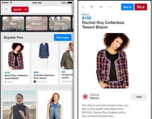 broches achetables sur Pinterest pour le commerce électronique