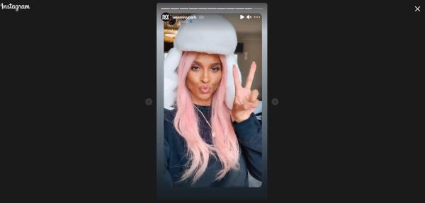 Ciara post on Instagram