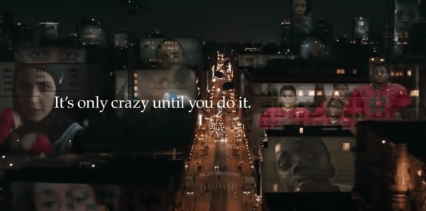"""Nike mastered using persuasive techniques in advertising. This Nike ad, """"Its only crazy until you do it"""" taps into human emotions"""