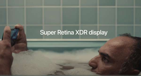Apple nails the logos persuasive technique in its advertising. This iPhone 12 ad touting the phone's impressive specs with a never-thought-of image of a man watching his iPhone while immersed in a bubble bath.