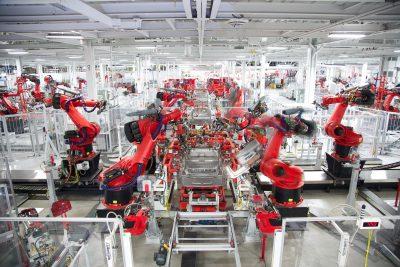 Een Tesla-fabriek