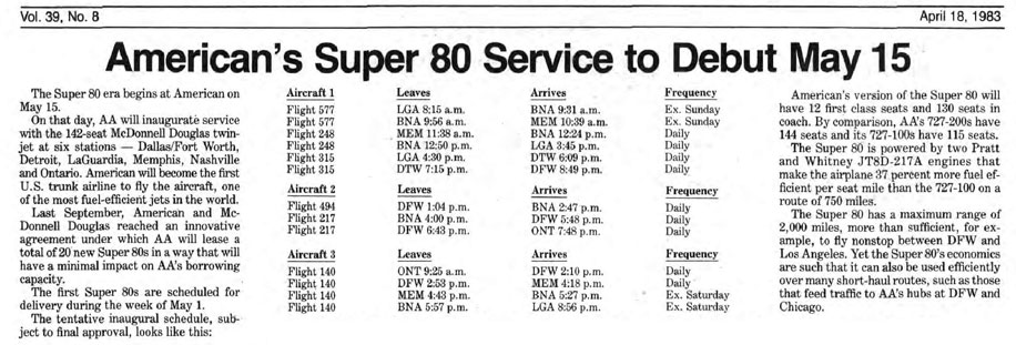 MD80 archive clipping