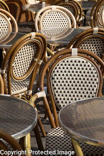 Cafe Tables and Chairs, Paris